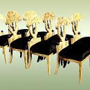 Sensational Set of Eight Biedermeier style chairs