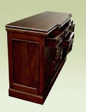 FANTASTIC carved flamed Mahogany Victorian Sideboard