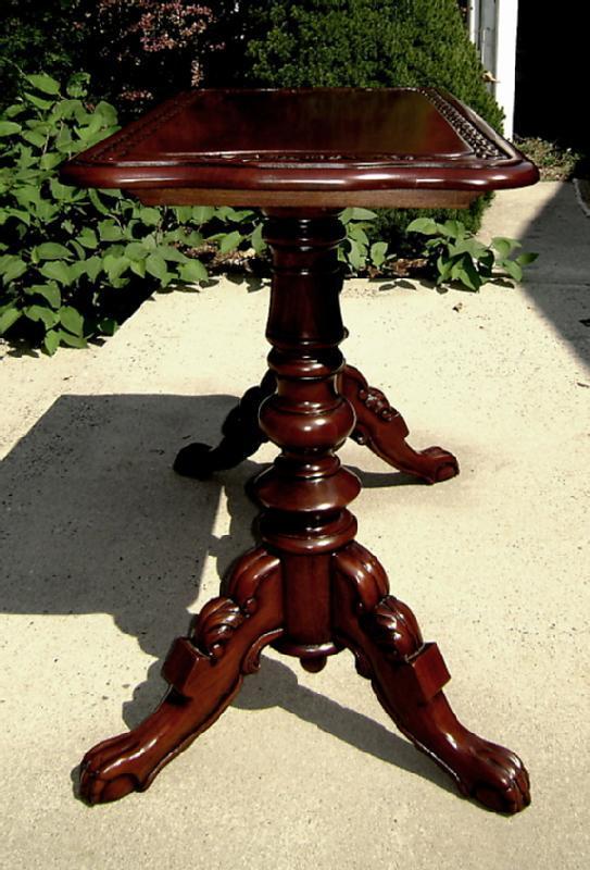 Quality carved Mahogany Irish sofa-console table