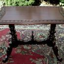 Quality carved Mahogany Irish sofa-console table