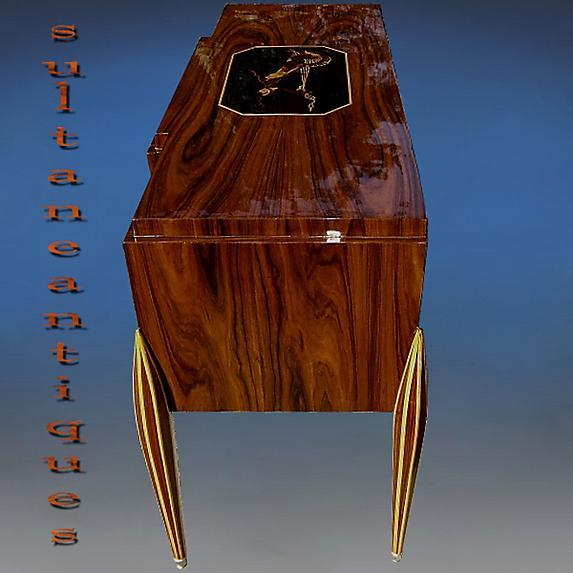 Sensational Art Deco sideboard marquetry Rosewood