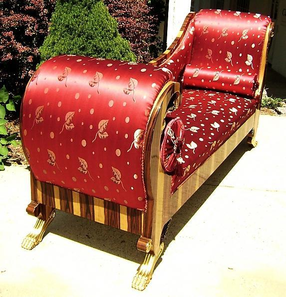SUMPTUOUS Biedermeier LARGE style Elm couch