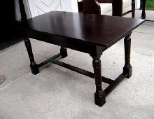Large Elegant Country solid dark Mahogany hunting table