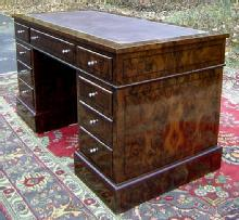 Majestic French Directoire walnut Desk 9 Drawers