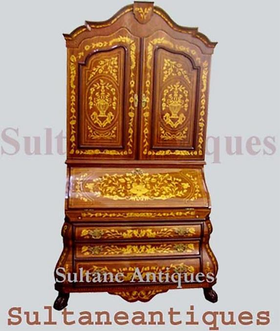 Monumental  Dutch  style  Secretary bookcase