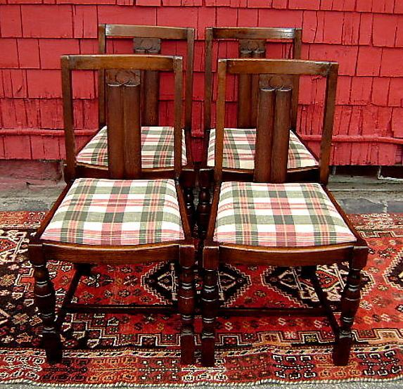 Elegant Set of 4 English antique quality country chairs