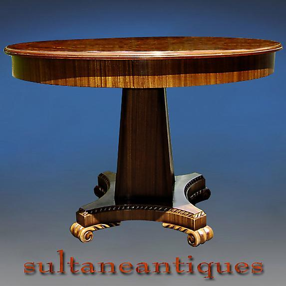 Superb Regency Style large Marquetry center table
