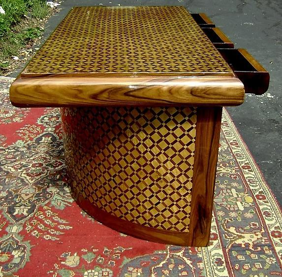 Presidential Large Art Deco style unusual Desk
