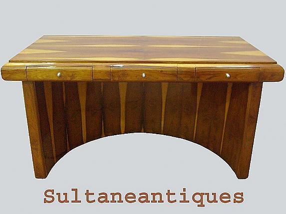 ROYAL purest form Art Deco style rare Rosewood DESK
