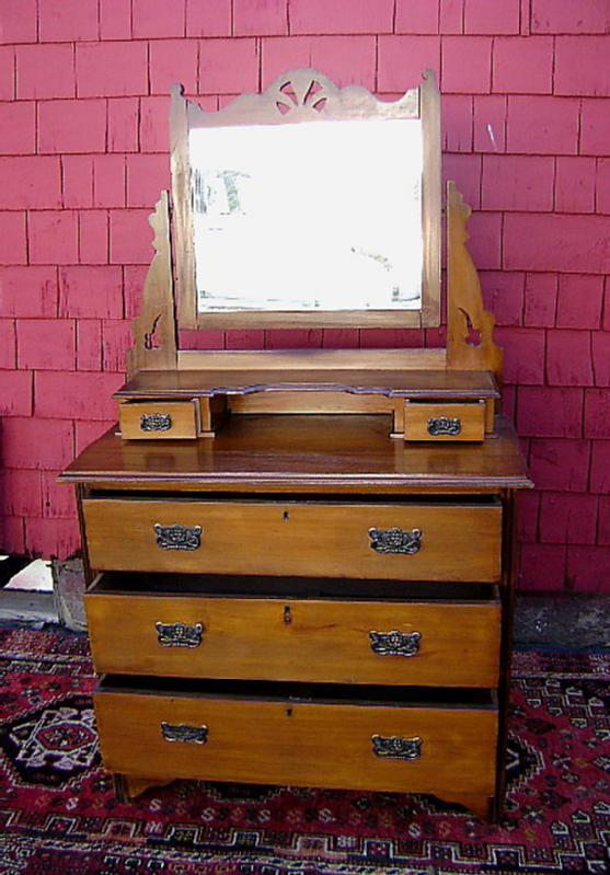 Antique mirror backed walnut country sideboard