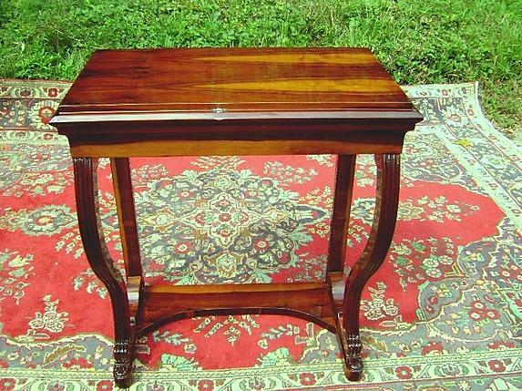 Large Biedermeier style console exotic rosewood
