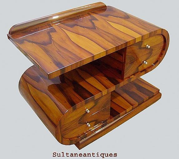 Sensational Art Deco S shaped table commode