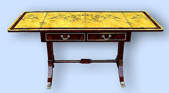 Louis Philippe style Sofa Table French Elm and Mahogany