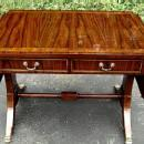 Quality Regency style Sofa drop leaf table walnut/Elm