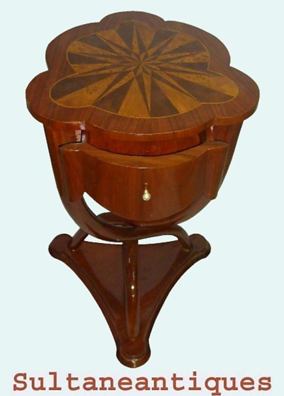 MAGNIFICENT French Thonet style side table