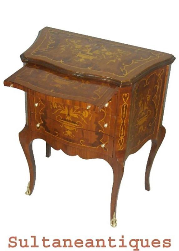 super elegant Louis XV style marquetry commode
