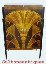 MASTERPIECE Cabinet-Bar in best Art Deco style