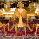 SPECTACULAR Olivewood Biedermeier style Set 9 pieces