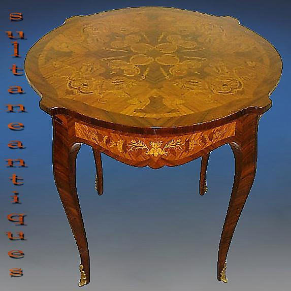 High Quality Marquetry Louis XV style Center table