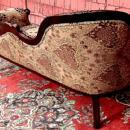 Fine LEFT single end Victorian style Mahogany sofa