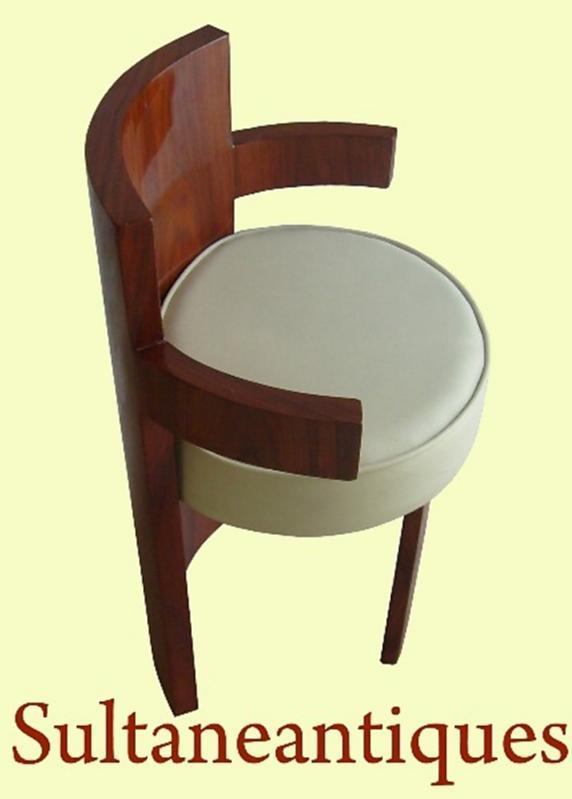 Unusual forms Art Deco style Rosewood Chair
