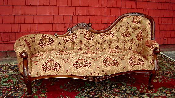 Fine single end - RIGHT- Victorian Mahogany sofa