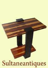 Classicc Art Deco style Rosewood side table