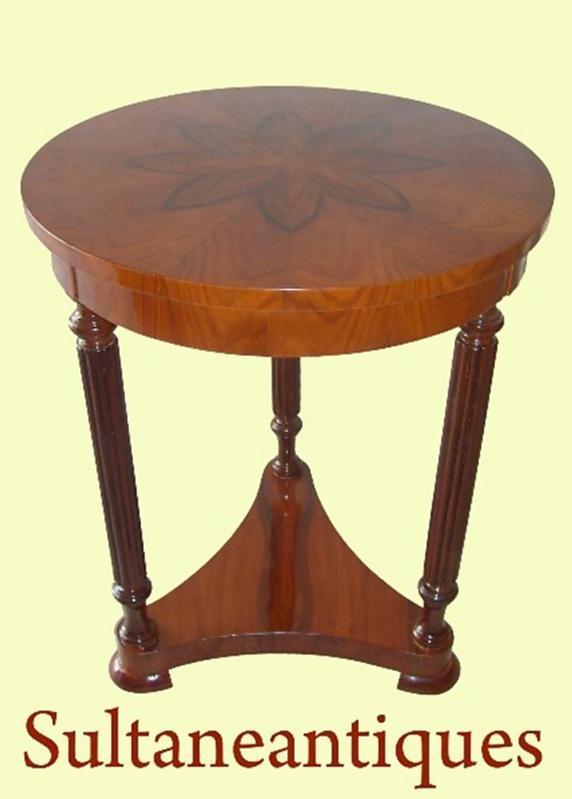 Most elegant rosewood biedermeier style side table