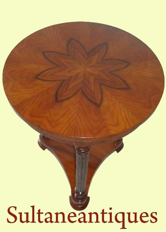 Most elegant rosewood biedermeier style side table