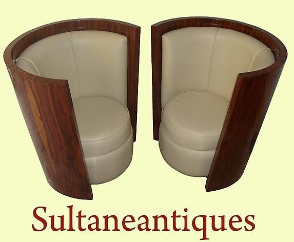 Stunning Rosewood chairs in Art Deco style .
