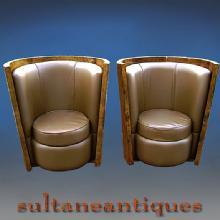 TO DIE FOR!! stunning pair Art Deco style chairs.
