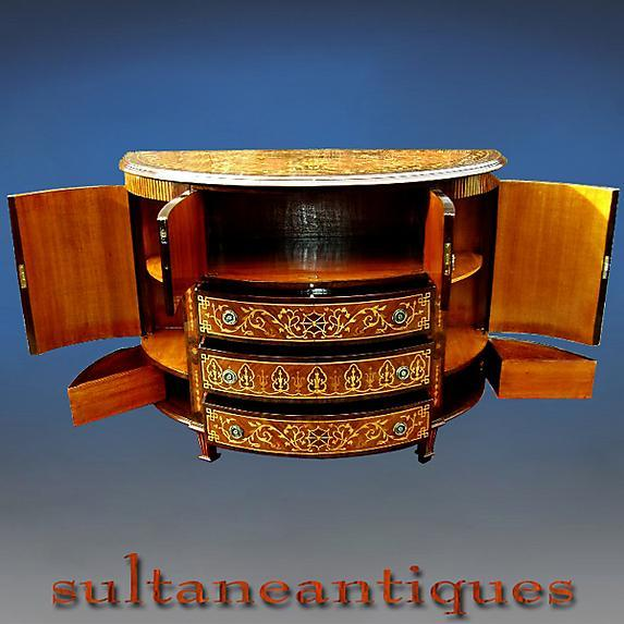 English 1930s Rosewood and Marquetry Bar