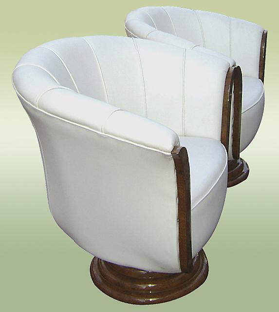 Pair of sensational Art Deco style armchairs.