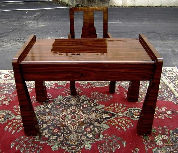 EXCEPTIONAL forms Art Deco style Desk set  Rosewood
