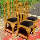 Gorgeous set of 4 Queen Anne Elmwood Chairs