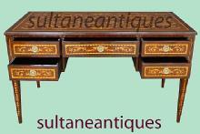 Executive Large Italian 18th C. style marquetry DESK