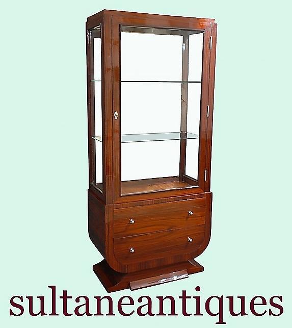 FINE Rosewood Art Deco inspired Vitrine cabinet