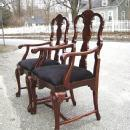 QUALITY Pair of Queen Anne style Mahogany armchairs