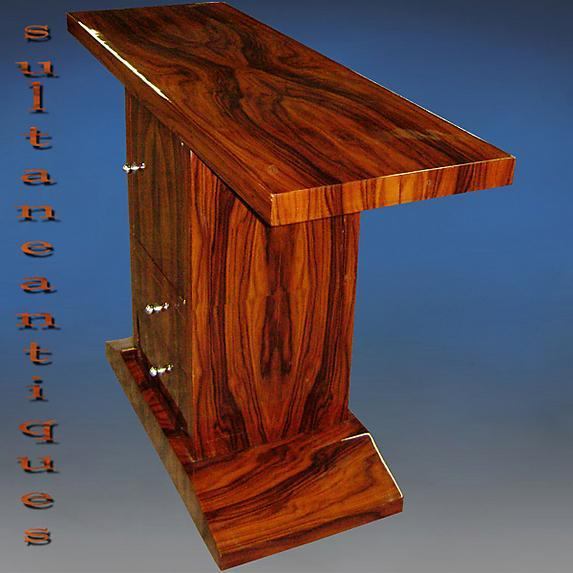 Rosewood bookmatched top quality Art Deco style console
