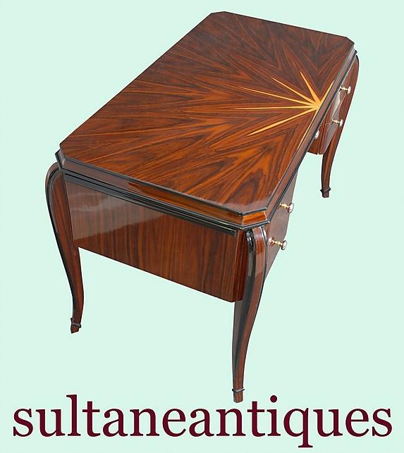 Classic forms open book Art Deco Style Desk