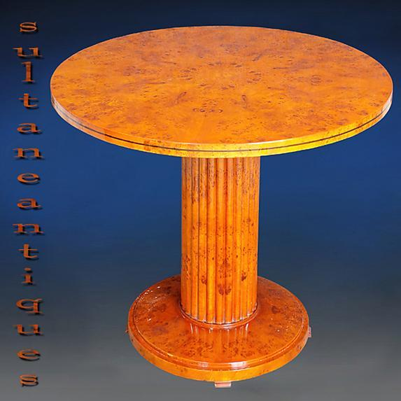 Great Biedermeier Elm 48 inches round center table