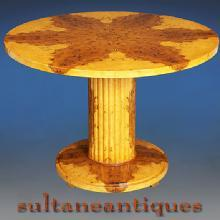 Great Biedermeier OLIVE 48 inches round center table
