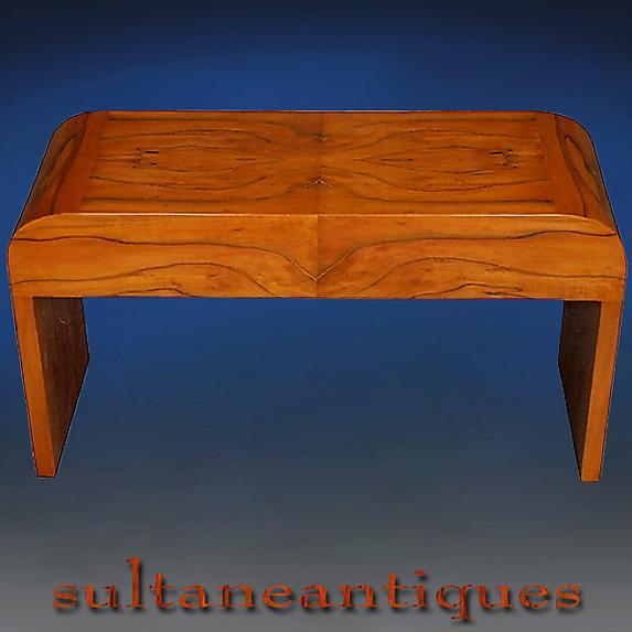 Fantastic Cherry wood Art Deco style coffee table