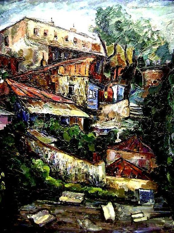 Russian village BY Valeria BARSHTINE