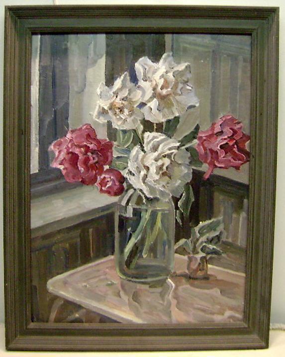 Still Life 1930s flowers By Russian Nicholas Silaev