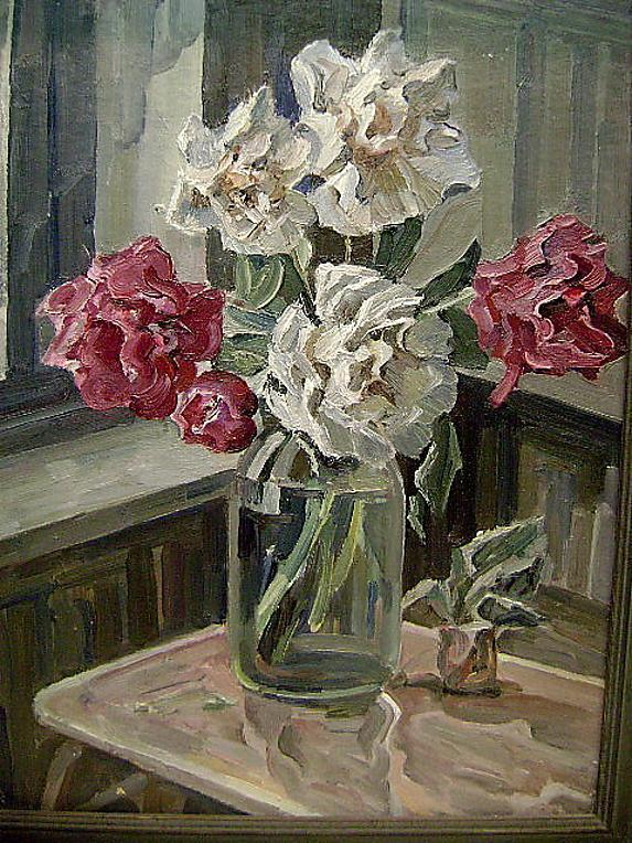 Still Life 1930s flowers By Russian Nicholas Silaev