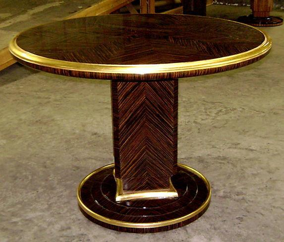 Makassar Ebony Ruhlman inspired Large Art Deco Table