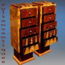 Extraordinary High commodes / stands Art Deco inspired