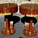 Pair of  side Commodes in unusual inspired Art Deco