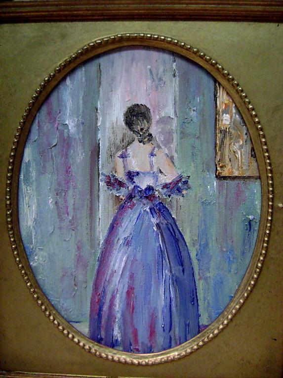 La Dame en Bleu vue de dos by Soussy